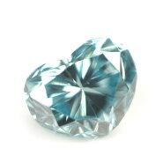 ブルーダイヤモンド(トリートメント)ルース(裸石)0.040ctアイスブルー系ハートシェイプ