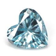 ブルーダイヤモンド(トリートメント)ルース(裸石)0.045ctアイスブルー系ハートシェイプ