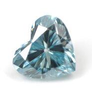 ブルーダイヤモンド(トリートメント)ルース(裸石)0.048ctアイスブルー系ハートシェイプ