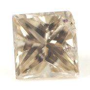 天然ダイヤモンドルース(裸石)約0.07ct【ガーネットと思われる結晶入り】