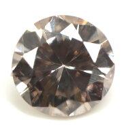 天然ブラウンダイヤモンドルース(裸石)0.079ct,SI-2,FancyLightBrown(ファンシー・ライト・ブラウン)【中央宝石研究所ソーティング袋付】