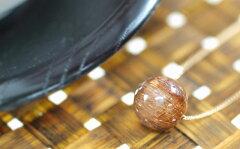 【2月8日の誕生日石】【10月2日の誕生日石】ルチル・クォーツ ( 針入り水晶 ) ペンダント・ネッ...