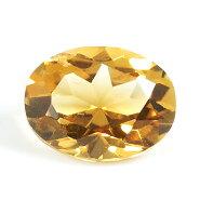 シトリン(黄水晶)ルース1.37ct,オーバル【8月1日の誕生日石・11月の誕生石】