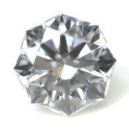 【通称名:クリスタルムーン】天然ダイヤモンドルース(裸石)0.233ct,Dカラー,VS-1,73面体,正八角形,中央宝石研究所ソーティング