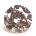 天然ピンクダイヤモンド ルース(裸石) 0.056ct, Fancy Light Brown Pink (ファンシー・ライト・ブラウン・ピンク), I-1, ラウンド・ブリリアント・カット 【送料無料】