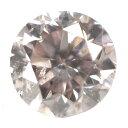 天然ピンクダイヤモンド ルース(裸石) 0.068ct, Very Light Brownish Pink (ベリー・ライト・ブラウニッシュ・ピンク), I-1, ラウンド・ブリリアント・カット