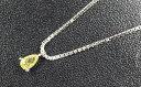 天然イエローダイヤモンド ルース(裸石) 0.161ct 【蛍光性がミディアムイエローイッシュグリーン】【中央宝石研究所】【送料無料】