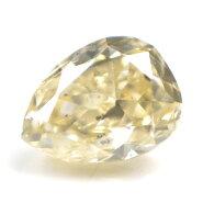 【UnderS(LightBrownishYellow)カラー】天然イエローダイヤモンドルース(裸石)0.092ct,SI-2【中央宝石研究所ソーティング袋付】