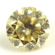 天然イエローダイヤモンドルース(裸石)0.051ct,ファンシー・ライト・イエロー,SI-2【中央宝石研究所ソーティング袋付き】