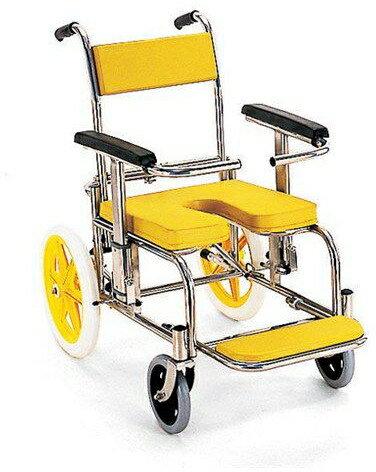 入浴・シャワー用車いす 病院・施設用 KS2 イエロー:タノシニア