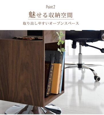 サイドテーブル回転木製北欧アンティーク収納