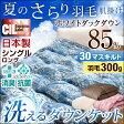 【送料無料】 日本製 洗える 羽毛肌掛け布団 シングル ロング ホワイトダウン 85% CILレッドラベル 消臭 抗菌 【新技術アレルGプラス 気になる臭いも改善】 300dp以上 肌掛け 羽毛布団 肌掛け布団 ダウンケット
