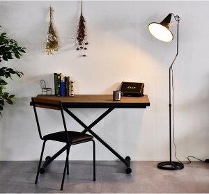 ヴィンテージ 昇降式 テーブル 幅120 高さ調節 *ビルド-TG*0 天然木 無垢材 + 鉄脚 無段階 ガス圧 ダイニング リフティングテーブル リビングテーブル センターテーブル 昇降テーブル PCデスク インダストリアル
