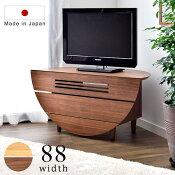 テレビ台88完成品木製天然木テレビボード