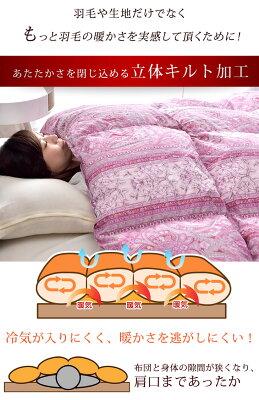 ダウン93%使用!安心の日本製!羽毛布団