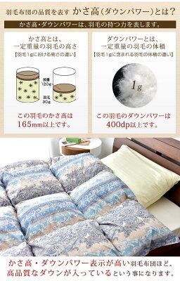 日本製グース90%CILシルバーラベル羽毛布団シングルロング