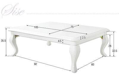 【送料無料】姫系猫脚こたつ105×75長方形折れ脚コタツテーブルこたつテーブル折れ足おしゃれかわいいコタツ猫脚こたつ炬燵ローテーブルヨーロピアンモダン猫足こたつ猫脚