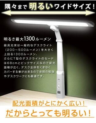 LEDライト本体に1個口コンセント付きです。