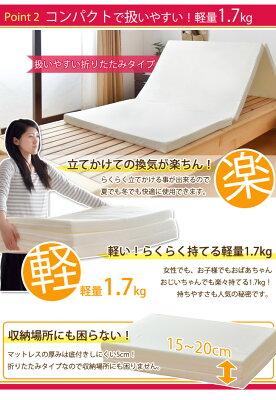 日本製三つ折りマットレス