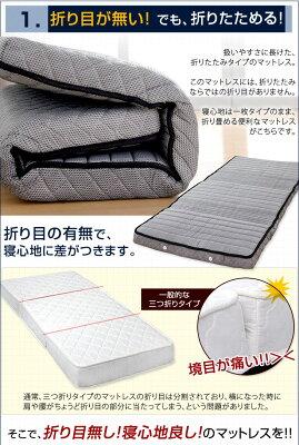 折り畳みポケットコイルマットレス