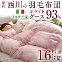 【送料無料】高品質 西川 日本製 羽毛布団 イタリア産 ホワ...