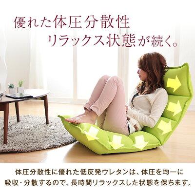座椅子Rococo-ロココ-低反発もこもこチェア座いす