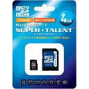 【カード決済OK】SUPER_TALENT SuperTalent microSDHC 4GB Class4 SD変換アダプタ付 日本語パッケージ 3年保証 ST04MSC4A