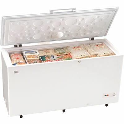 ハイアール 大きい食材もラクラク大量ストック! 519L上開き式冷凍庫 JF-NC519A-W