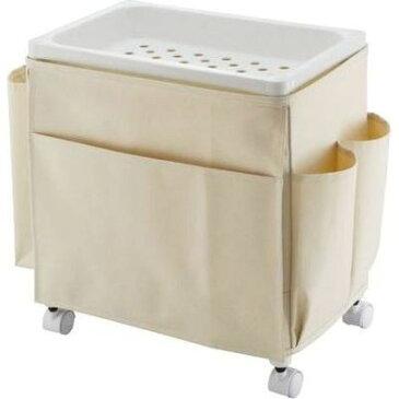 不動技研 サイドテーブルワゴン ミニラック ホワイト ( リビングワゴン ) 4962191012322