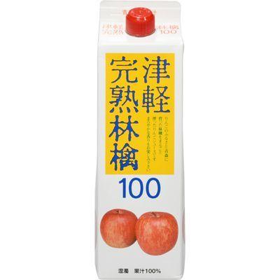 スターリングフーズ 【ケース販売】津軽完熟林檎ジュース 紙パック 1000ml×6本 E496825H