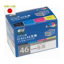 その他 【訳あり・在庫処分】日本ナノディジタル エプソン(EPSON)用IC4CL46互換インクカートリッジ NDE-46-4PACK ds-1458090