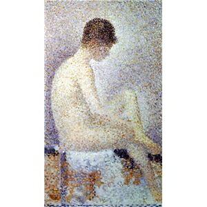 その他 世界の名画シリーズ、プリハード複製画 ジョルジュ・スーラ作 「ポーズする女」【代引不可】 ds-195177:家電のタンタンショップ プラス