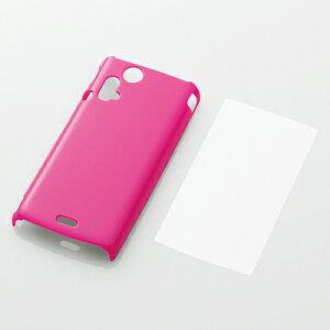 【5個セット】Xperia acro 2011/IS11S/シェルカバー/ピンク (【5個セット】) (PASOX3PVPN)エレ...