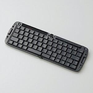 折りたたみBluetoothキーボード/iPhone,iPad対応/英字配列/ブラック (TKFBP019EBK)エレコム TK-...