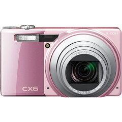 最短0.1秒の高速AFを実現したデジタルカメラ CX6 BK(ピンク) (CX6PK)リコー CX6-PK