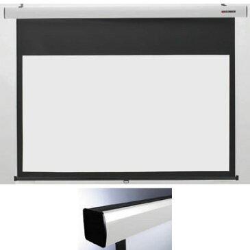 キクチ 16:9ワイドスプリングローラータイプ80インチスクリーン「Stylist SR」 (SS80HDWA)(白) SS-80HDWA/W【納期目安:1週間】