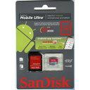 サンディスク SANDISK SANDISK microSDHC 32GB ULTRAシリーズ UHS-1 Class10 SD変換アダプタ パッケージ品 SDSDQUA-032G