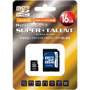 SUPER_TALENT SuperTalent microSDHC 16GB Class10 SD変換アダプタ付 日本語パッケージ 3年保証 ST16MSC0A【納期:納期未定】