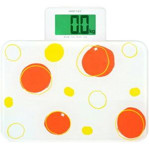 画面が自動で出てくるオートスライド式体重計!(オレンジ) (BS156OR)DRETEC 画面が自動で出てく...