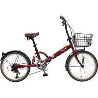 Topone トップワン 20インチ 折りたたみ自転車 外装6段ギア付 FS206LL-37-RD 【送料無料】20インチ 折りたたみ自転車 外装6段ギア付 (FS206LL37RD)