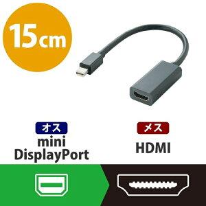 エレコム miniDisplayPort変換アダプタ/forAPPLE/HDMI/ブラック AD-MDPHDMIBK【納期目安:01/16入荷予定】