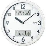 MAG 温湿度/カレンダー機能付掛時計「ダブルメジャー」(ホワイト) W-631-WH