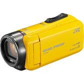 【代引手数料無料】ビクター 防水防塵と耐衝撃・耐低温対応のハイビジョンメモリービデオカメラ 32GB EverioR (イエロー) GZ-R400-Y