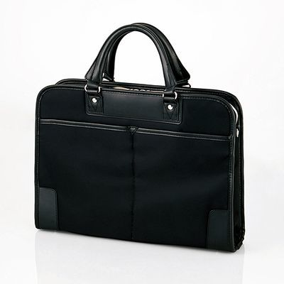 エレコム 軽量・薄型・自立 メンズ ビジネスバッグ ブリーフケース 2WAY(ショルダー/手提げ) ファスナー 収納サイズ(A4 13.3/14/15/15.6インチPC MacBook対応 10.1インチタブレットまで) ブラック(黒)