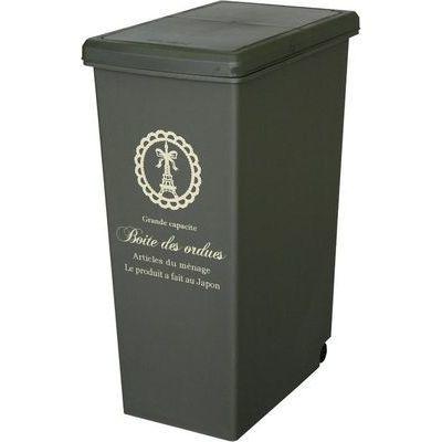 平和工業ゴミ箱キッチン45リットルスライドペールブラウン(ふた付きキャスター付き45L)4907556206114