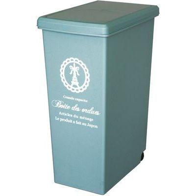 平和工業ゴミ箱キッチン45リットルスライドペールブルー(ふた付きキャスター付き45L)4907556206138