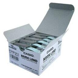 その他 カシオ(CASIO) ネームランド エコテープ 5個入り 白に黒文字 12mm ds-1095738