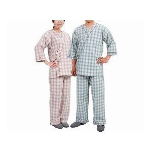 その他 特殊衣料 寝巻き セパレートタイプ 紳士用 /0730 タータングリーン LL ds-1431558