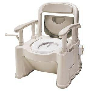 その他 パナソニックエイジフリーライフテック 樹脂製ポータブルトイレ ポータブルトイレ【座楽】背もたれ型SP VALSPTSPBE ds-1550076