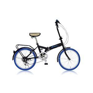 その他 折りたたみ自転車 20インチ/ブルー(青) シマノ6段変速 【MIWA】 ミワ FD1B-206 ds-1634646